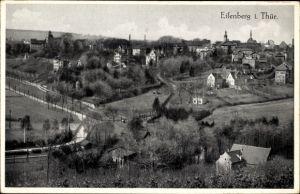 Ak Eisenberg im Saale Holzland Kreis, Blick auf Ortschaft und Umgebung