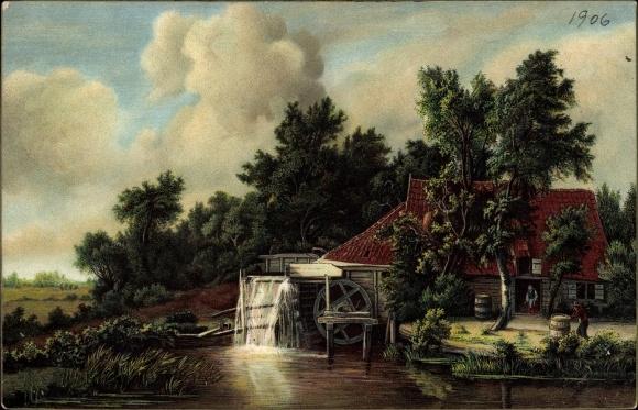 Künstler Ak Hobbema, M., Die Wassermühle, Stengel 29107