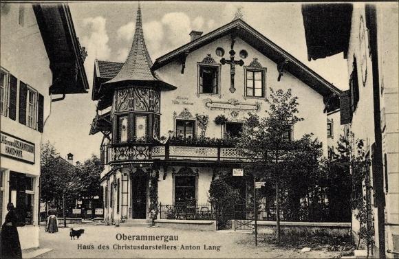 Ak Oberammergau in Oberbayern, Haus des Christusdarsteller Anton Lang, Verlag Hansmayr