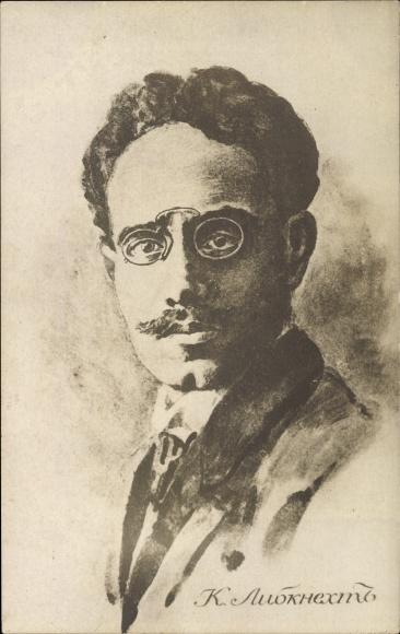 Ak Dr. Karl Liebknecht, Portrait, Marxist und Antimilitarist, Spartakist, SPD, KPD, Portrait