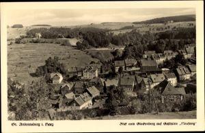 Ak St. Andreasberg Braunlage im Harz, Blick vom Glockenberg auf Gasthütte Neufang