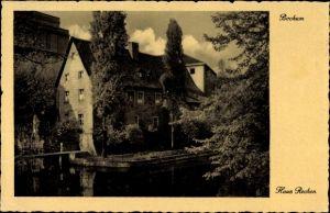 Ak Bochum im Ruhrgebiet, Flusspartie mit Blick auf Haus Rechen