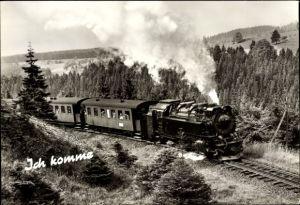 Ak Deutsche Eisenbahn, Dampflokomotive, Ich komme, Lok Nr 99 245