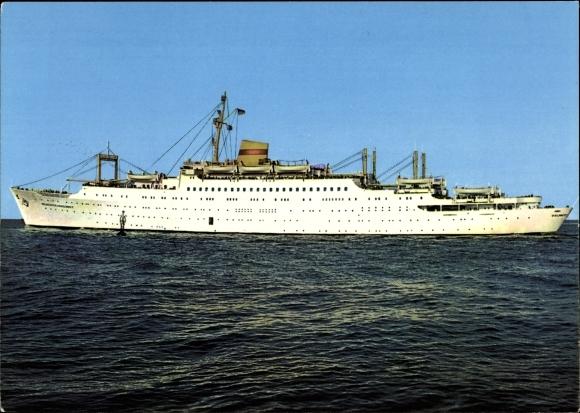 Ak Urlauberschiff MS Völkerfreundschaft, Ansicht Backbord