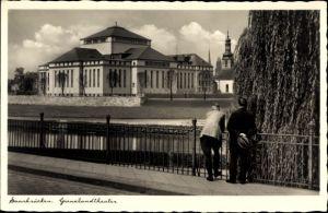 Ak Saarbrücken im Saarland, Blick auf das Grenzlandtheater