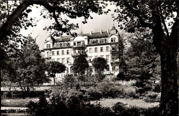 Ak Bad Kissingen Unterfranken Bayern, Durchblick zum Kurhotel Der Fürstenhof