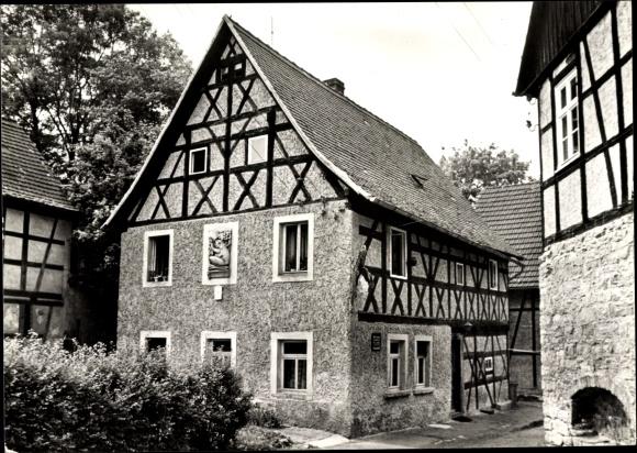 Ak Bad Köstritz an der Weißen Elster Thüringen, Historische Gaststätte zum Frosch