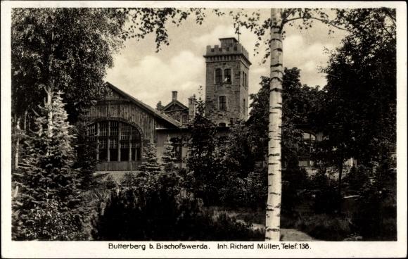Ak Bischofswerda im Kreis Bautzen, Butterberg, Inh. Richard Müller