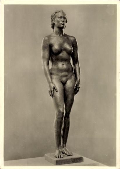 Ak Plastik von Georg Kolbe, Junges Weiß, Frauenakt