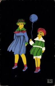 Künstler Ak Kallenbach, Hilde, Kinder mit einem Luftballon