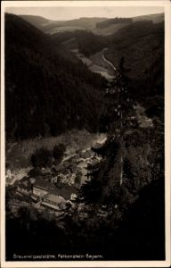 Ak Falkenstein in Bayern, Stadtpanorama, Brauereigaststätte, Talansicht, Fotograf: H. Willenberg