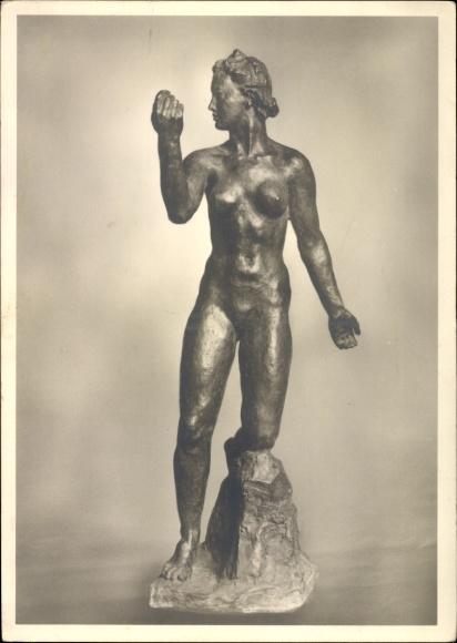 Ak Plastik von Georg Kolbe, Fortuna, Frauenakt, Kunstausstellung Berlin 1942