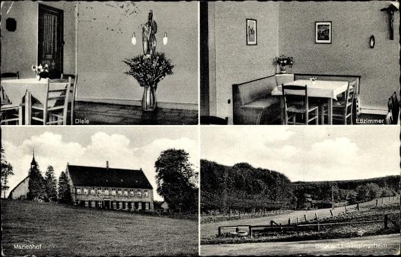 Ak Nottuln Nordrhein Westfalen, Kath. Mütterkurheim Marienhof, Diele,  Esszimmer, Säuglingsheim