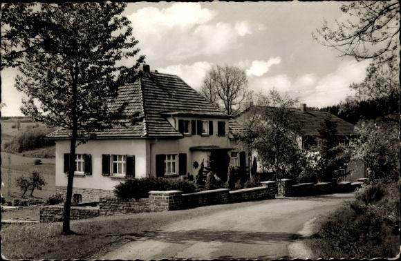 Ak Olpe in Nordrhein Westfalen, Schullandheim Gelslingen, Straßenansicht