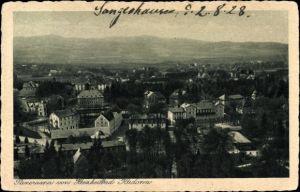 Ak Kudowa Zdrój Bad Kudowa Schlesien, Panorama vom Kurort