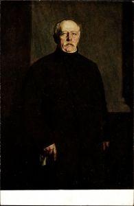 Künstler Ak Lenbach, F. von, Fürst Otto von Bismarck in Friedrichsruh 1888, Standportrait