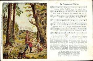 Lied Ak Lattermann, G., Wilhelm Vogel, Dr Schwamma Marsch, Pilzsucher