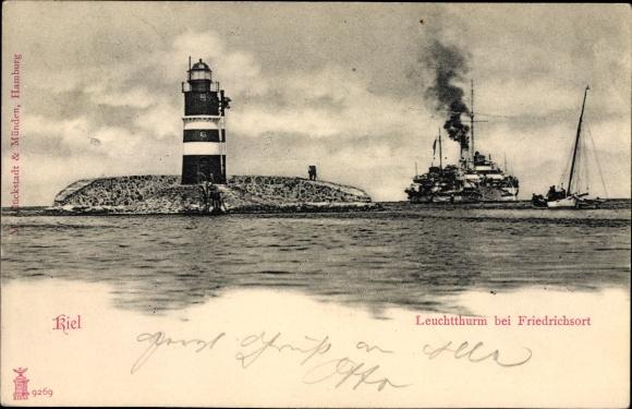 Ak Kiel in Schleswig Holstein, Leuchtturm bei Friedrichsort
