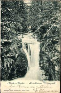 Ak Baden Baden im Stadtkreis Baden Württemberg, Partie am Geroldsauer Wasserfall