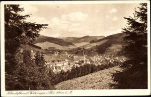 Ak Furtwangen im Schwarzwald Baar, Blick auf den Ort mit Umgebung