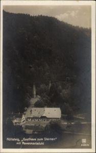 Ak Breitnau im Schwarzwald, Höllsteig, Gasthaus zum Sternen mit Ravennaviadukt