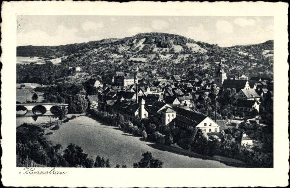 Ak Künzelsau im Hohenlohekreis Baden Württemberg, Gesamtansicht des Ortes