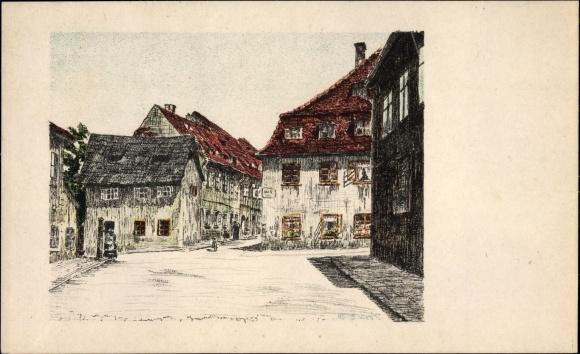 Künstler Ak Lark, B., Cheb Eger Reg. Karlsbad, Vohburggasse