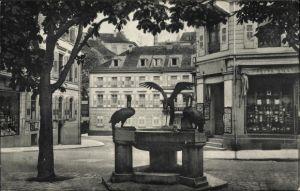 Ak Baden Baden im Stadtkreis Baden Württemberg, Partie bei der Sophienstraße, Brunnen