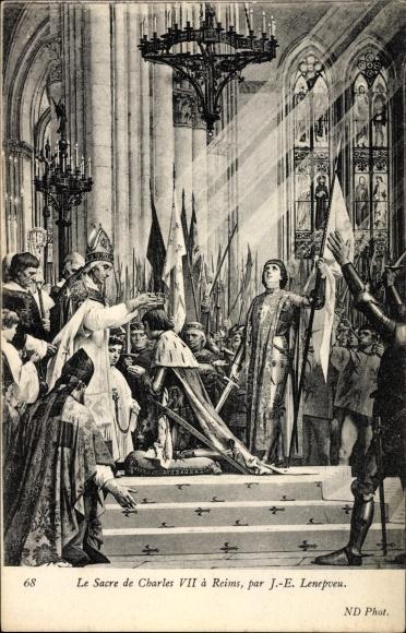 Künstler Ak Lenepveu, Jule Eugen, La Sacre de Charles VII a Reims