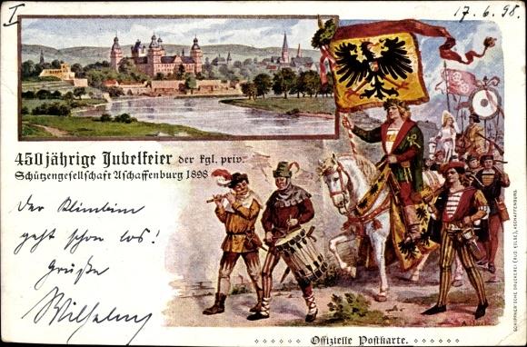Künstler Aschaffenburg künstler ak aschaffenburg unterfranken bayern 450jh jubelfeier der