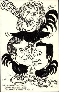 Künstler Ak 1981 Grand Chelem, Carrere, Fourroux, Rives, Rugby