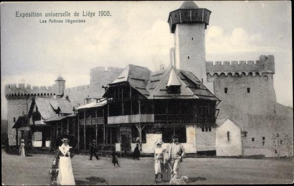 Ak Liège Lüttich Wallonien, Expo 1905, Les Arènes liégeoises