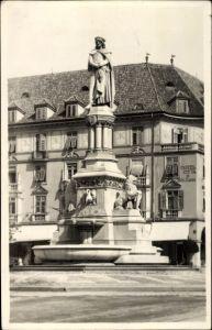 Ak Bozen Bolzano Südtirol, Monumento Walter, Walter von der Vogelweide Denkmal, Otto Hieser