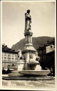 Ak Bozen Bolzano Südtirol Italien, Monumento Walter, Walter von der Vogelweide Denkmal, H. Natter