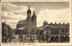 Ak Kraków Krakau Polen, Kosciol najsw. Panny Maryi, Marienkirche