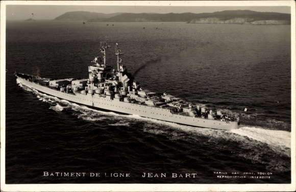 Ak Französisches Kriegsschiff, Jean Bart, Batiment de Ligne, Linienschiff