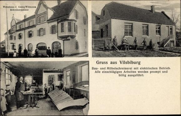 Ak Vilsbiburg im Kreis Dingolfing Landau Niederbayern, Wohnhaus von Schreinermeister Georg Wittmann