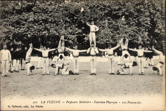 Ak La Flèche, Prytanée Militaire, Exercise Physique, les Pyramides, Soldaten
