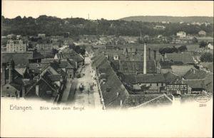 Ak Erlangen in Mittelfranken Bayern, Blick nach dem Berge