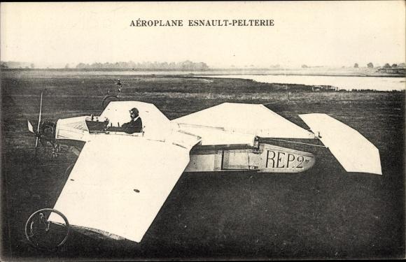 Ak Aéroplane Esnault Pelterie, Monoplan, Rep.2, Flugpioniere