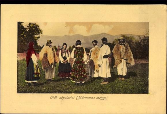 Ak Ungarn, Olah nepviselet, Marmaros megye, Ungarn in Landestrachten, Hirten