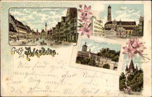 Ak Augsburg in Schwaben, Jakoberstraße mit Tor Nr. 2563075 ...