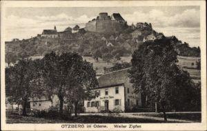 Ak Otzberg im Kreis Darmstadt Dieburg Hessen, Gasthaus zum Weiler Zipfen, Pension Becker