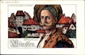 Künstler Ak Kempin, C., Bad Wimpfen am Neckar Kreis Heilbronn, Postkarte des Vereins Alt Wimpfen