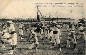 Ak Nantes Loire Atlantique, Concours de Gymnastique,1er Août 1909,Fédération Sportive,Pose Plastique