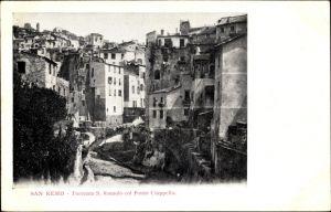 Ak Sanremo Ligurien, Torrento S. Romolo col Ponte Ciappella