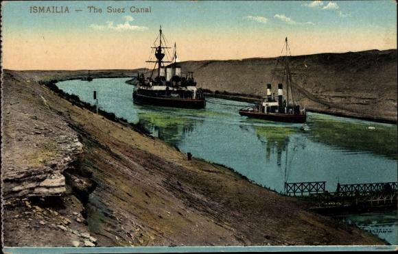 Ak Ismailia Ägypten, The Suez Canal, Suezkanal