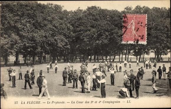 Ak La Flèche Sarthe, Le Prytanée, La Cour des 3e et 4e Compagnies