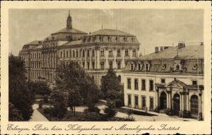 Ak Erlangen in Mittelfranken Bayern, Partie am Kollegienhaus und Mineralogischen Institut