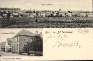 Ak Büchenbeuren Rheinland Pfalz, Totalansicht. Gasthaus Schüler